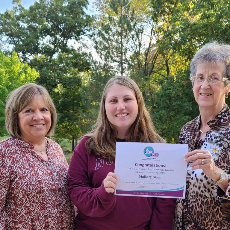 Pictured above, from the left: Cathy Eagan, Mallory Allen and Donna Myers. Photograph submitted