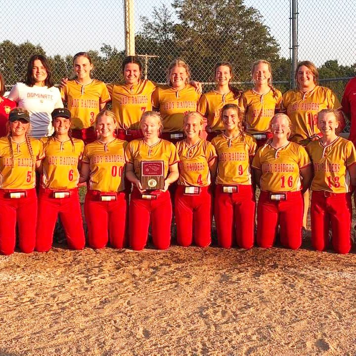 North Shelby defeated Van-Far, 12-0 in the North Shelby Tournament Championship game Saturday, September 18. Pictured above are the Lady Raiders. Front row, from the left: Marissa McEwen, Chesnie Robbins, Ava Williams, Zoey Barrick, Jaylea Barrick, Ceairra Kirby, Caroline Linberger, Riley Stoneburner, Emme Jones and Aliza Yoder. Back row, from the left: Asst. Coach Amanda Cook, manager, Alexa Mesmer, Natalie Thrasher, Whitney Snow, Meg Shively, Addy Uhlmeyer, Andi Belt, Sadie Copenhaver and head coach Donny Williams. Photograph submitted